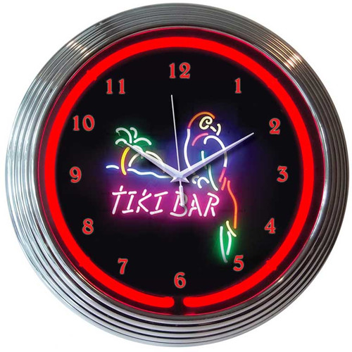 Neonetics 15'' Tiki Bar Wall Clock