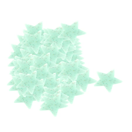 PVC Star Shaped Decor Glow in the Dark Wall Sticker Decal Light 100 Pcs - Glow In Dark Light