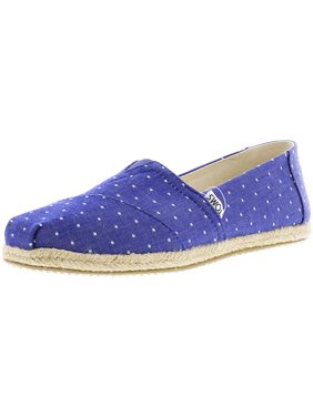 b5033626207 Product Image Toms Women s Classic Chambray Rope Sole Imperial Blue Dot  Ankle-High Canvas Slip-On