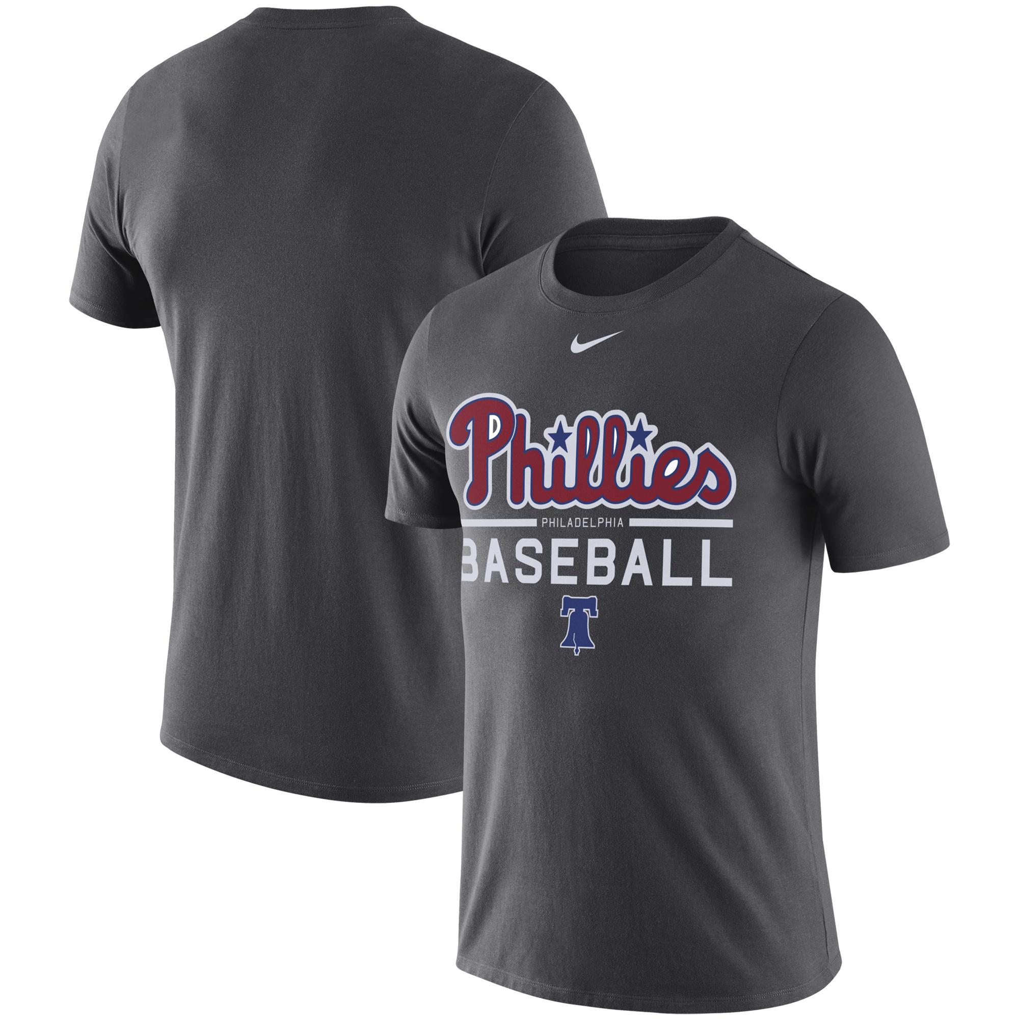 Philadelphia Phillies Nike Practice Performance T-Shirt - Anthracite - 3XL