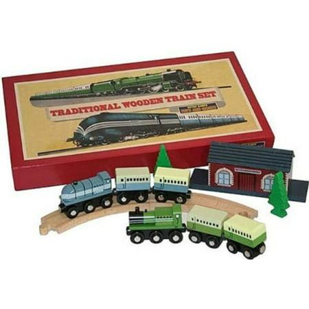 Traditional Wooden Train Set - Walmart.com