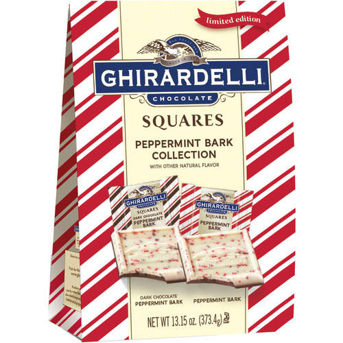 Ghirardelli Chocolate Peppermint Bark Squares Collection Holiday Gift, 13.15 oz