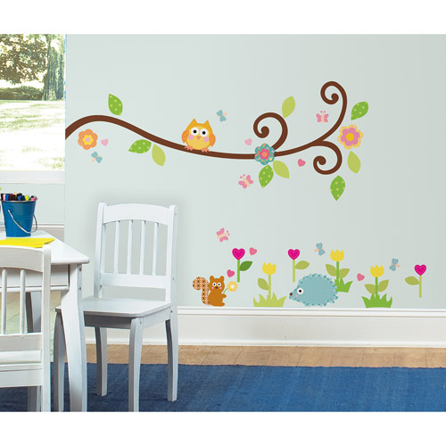 RoomMates Happi Scroll Branch Peel & Stick Wall Decals