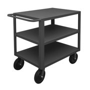 DURHAM MFG HET-3048-3-5K-95 12 ga. Steel Flat Handle Utility Cart 5000 lb.