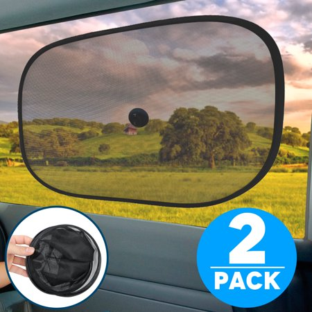 """TSV 2Packs Car Sunshade Protector - Protect Your Baby and Pets from Sun Glare and Heat - Static Cling Side Window Shade for Maximum UV Protection (20""""x12"""")"""
