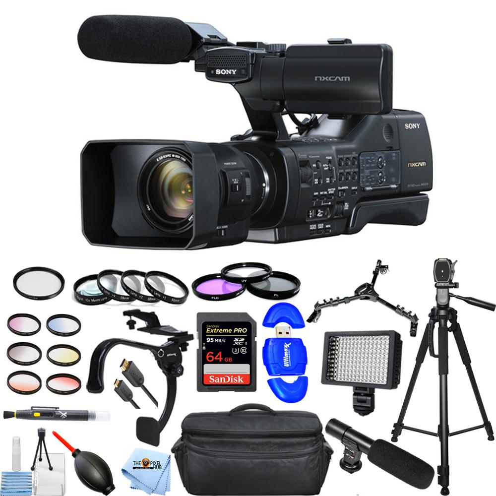 UNASSIGNED NEX-EA50UH Camcorder with 18-200mm Servo Zoom Lens MEGA BUNDLE