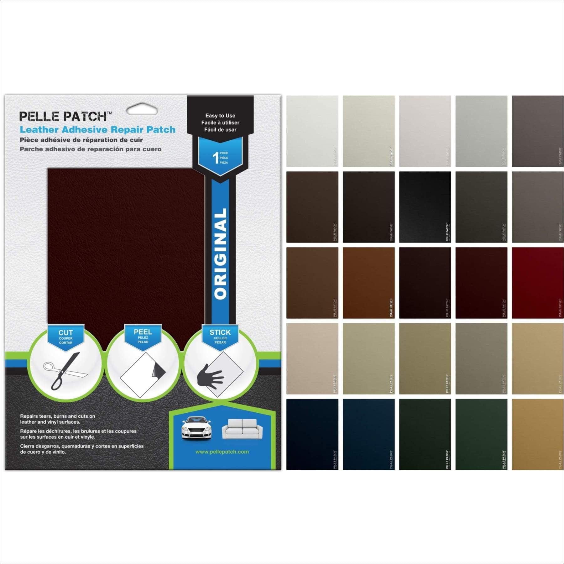 Flex 8x11 Tan 5X Leather /& Vinyl Adhesive Repair Patch Pelle Patch 25 Colors Available