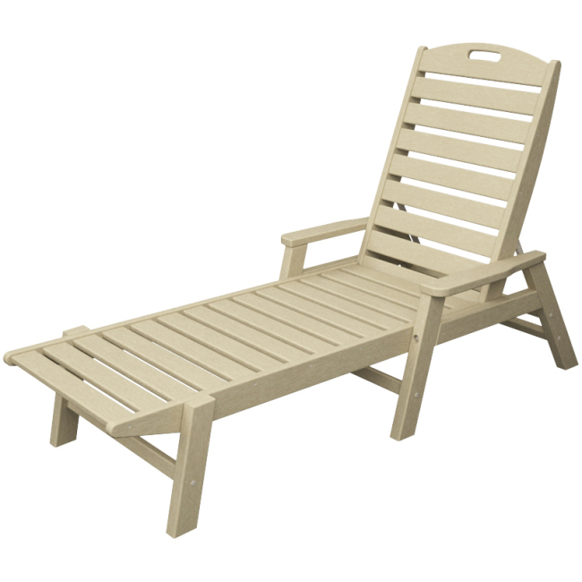 POLYWOOD Ocean Shores Recycled Plastic Outdoor Chaise Lounge by Polywood