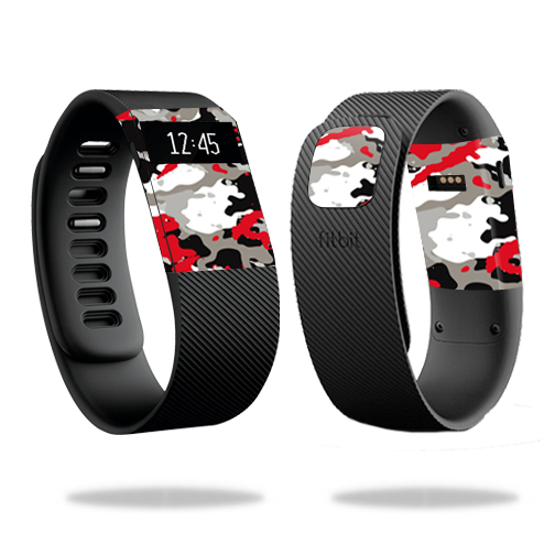 Skin Decal Wrap for Fitbit Charge cover skins sticker watch Red Camo