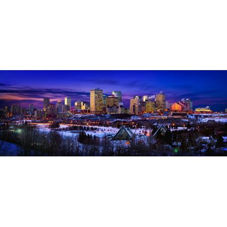 Corey Hochachka / Design Pics Stretched Canvas Art - Edmonton Winter ...