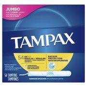 TAMPAX Cardboard Tampons Regular Unscented, 54 Count