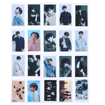 Fancyleo 20 Pcs Kpop BTS Bangtan Boys Photo Cards Love Yourself Tear  Postcard Lomo Cards Gift for ARMY