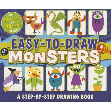 Easy-To-Draw Monsters : A Step-By-Step Drawing Book](Halloween Drawing Easy)