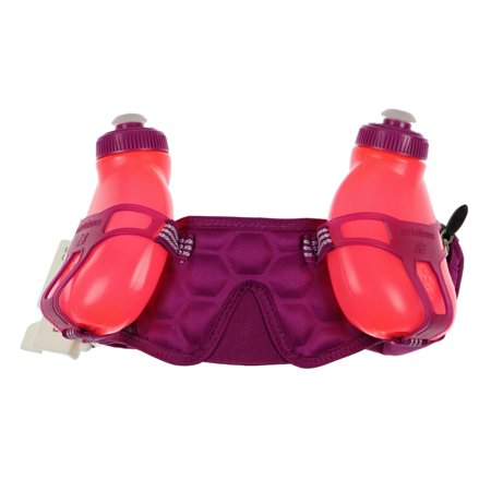 New Balance Unisex Helium H2O 2-Bottle Water Hydration Waistpack Purple Crimson Pink - Helium Bottle