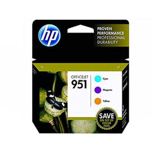 HP 951 Cyan/Magenta/Yellow Original Ink Cartridges, 3 pack (CR314FN)