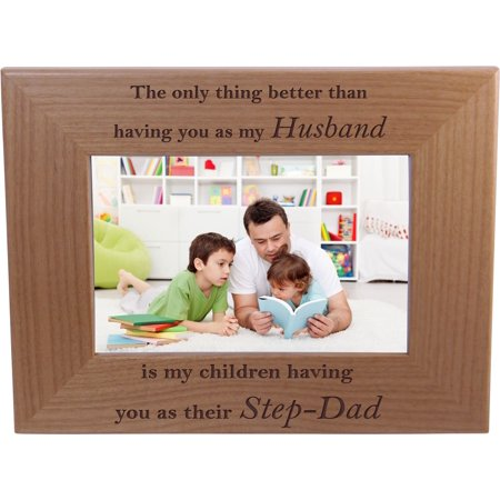 Only thing better than having you as my husband is our children having you as their dad - 4x6 Inch Wood Picture Frame - Great Gift for Father's Day Birthday, Christmas Gift for Dad Husband (Diy Christmas Photos)