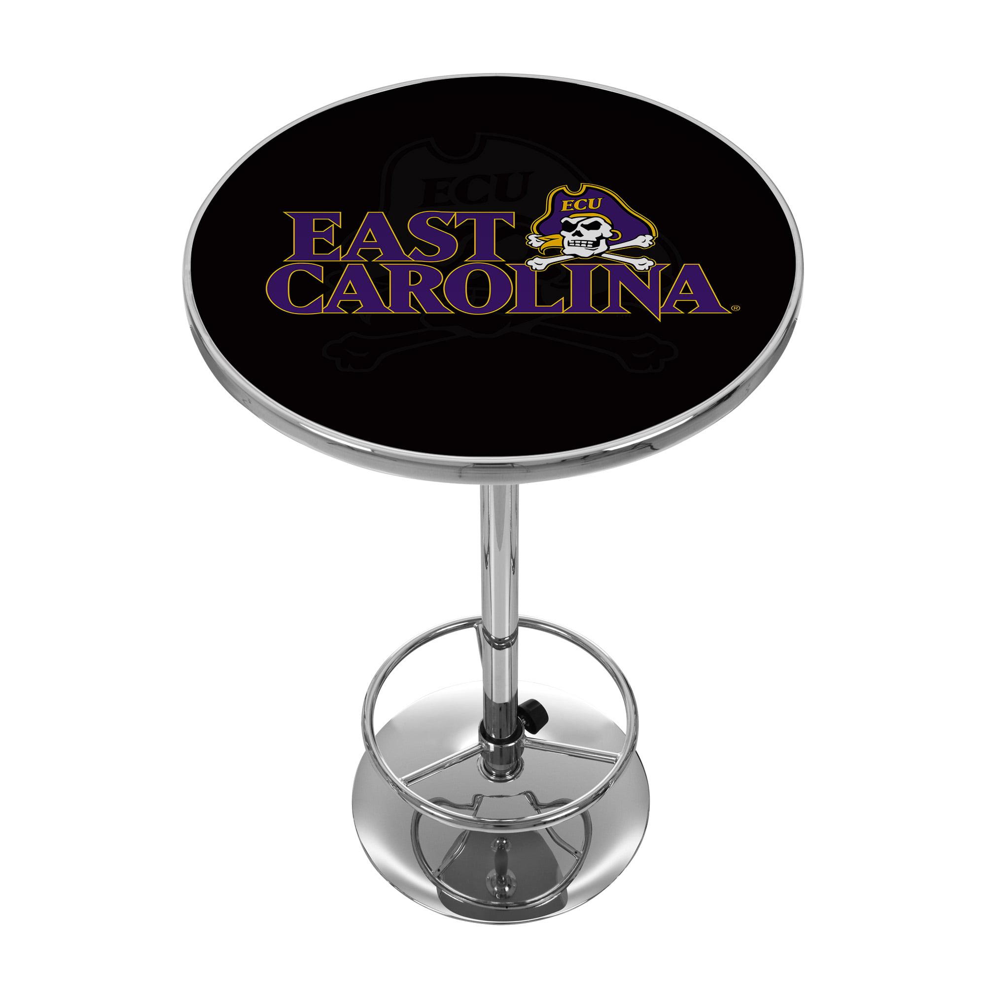 "NCAA East Carolina University 42"" Pub Table, Chrome"