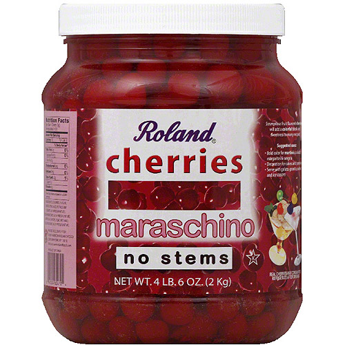 Roland Maraschino Cherries, 70 oz, (Pack of 6) by