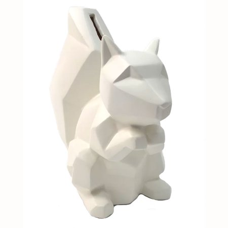 Concepts in Time Squirrel Resin Ivory Coin Money Bank, D5896IV 7x8