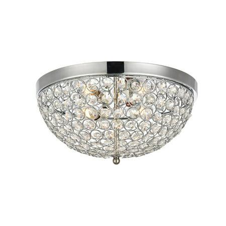 Elegant Lighting Ld5012f13 Taye 3 Light 13 1 2 Wide Flush Mount Ceiling Fixture