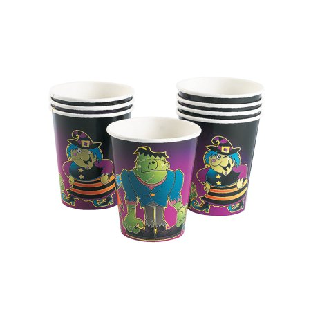 Fun Express - Boo Bunch 9oz Cups (8pc) for Halloween - Party Supplies - Print Tableware - Print Cups - Halloween - 8 - Halloween Express Store Hours