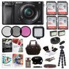 Sony a6000 Camera with 16-50mm Lens (Black) + Creative & Office Software Suite + Accessory Bundle Super fast auto focus with 179 AF points and 11FPSHigh resolution with 24MP APS-C sensorInstant sharing via smartphone with Wi-Fi and NFCISO range of 100-25600 for low light photosEasy and intuitive controlsRecord Full HD 1080p 24/60 FPS VideoOLED Viewfinder