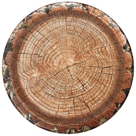 Cut Timber Lunch Plates (8 pack) (Zoo Plates)
