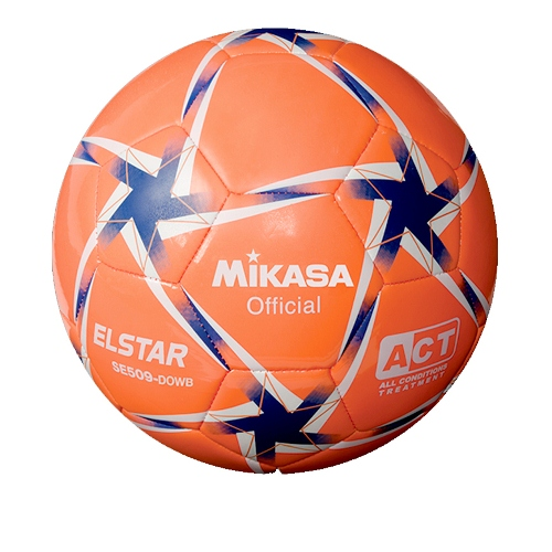 Soccer Ball by Mikasa Sports, Elstar Size 5 - Orange/White/Blue