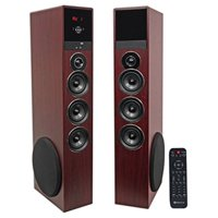 """Rockville TM150C Bluetooth Home Theater Tower Speaker System (2) 10"""" Subwoofers!"""