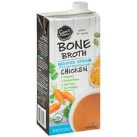 (2 pack) Sam's Choice Bone Broth, Reduced Sodium, Chicken, 32 oz