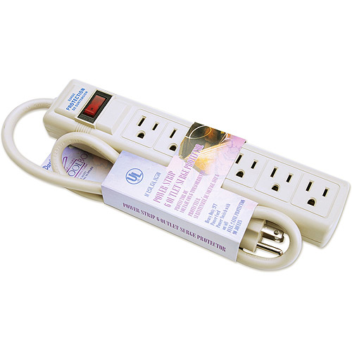 Darice Power Strip 6-Outlet Surge Protector, 2'