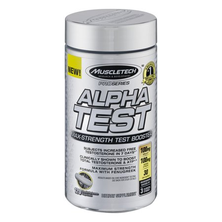 Muscletech Alpha Test Max Strength Test Booster Capsules  120 Ct
