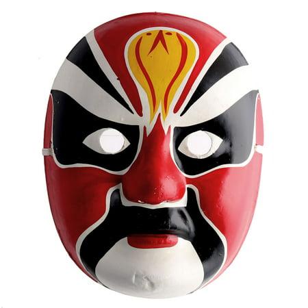 Halloween Cosplay Chinese Peking Handmade Painted Opera Mask Decor Multicolor