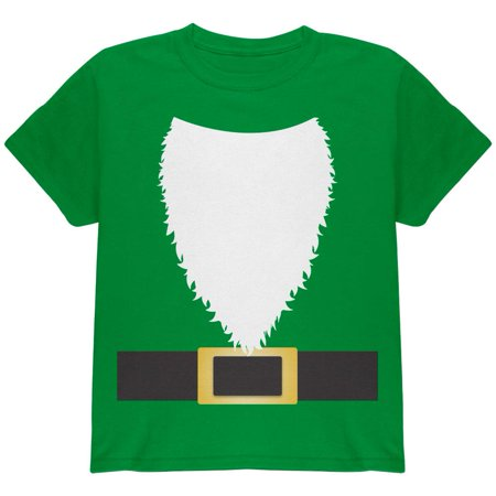 Halloween Lawn Gnome Costume Green Youth T Shirt