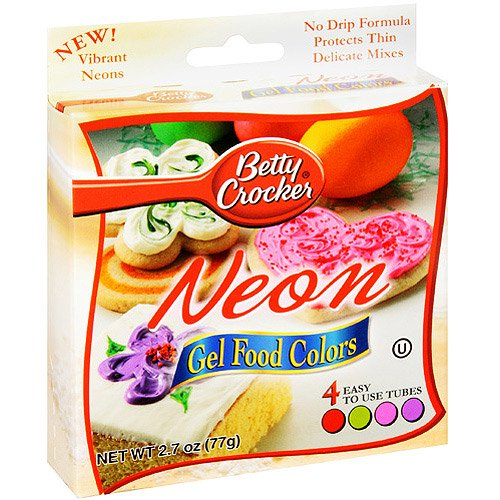 Betty Crocker Writing Icing Neon Gel Food Colors - 4 CT - Walmart.com