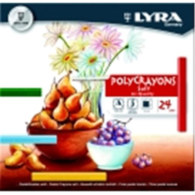 Lyra Non-Toxic Soft Poly-Crayon, Assorted Color, Pack 24
