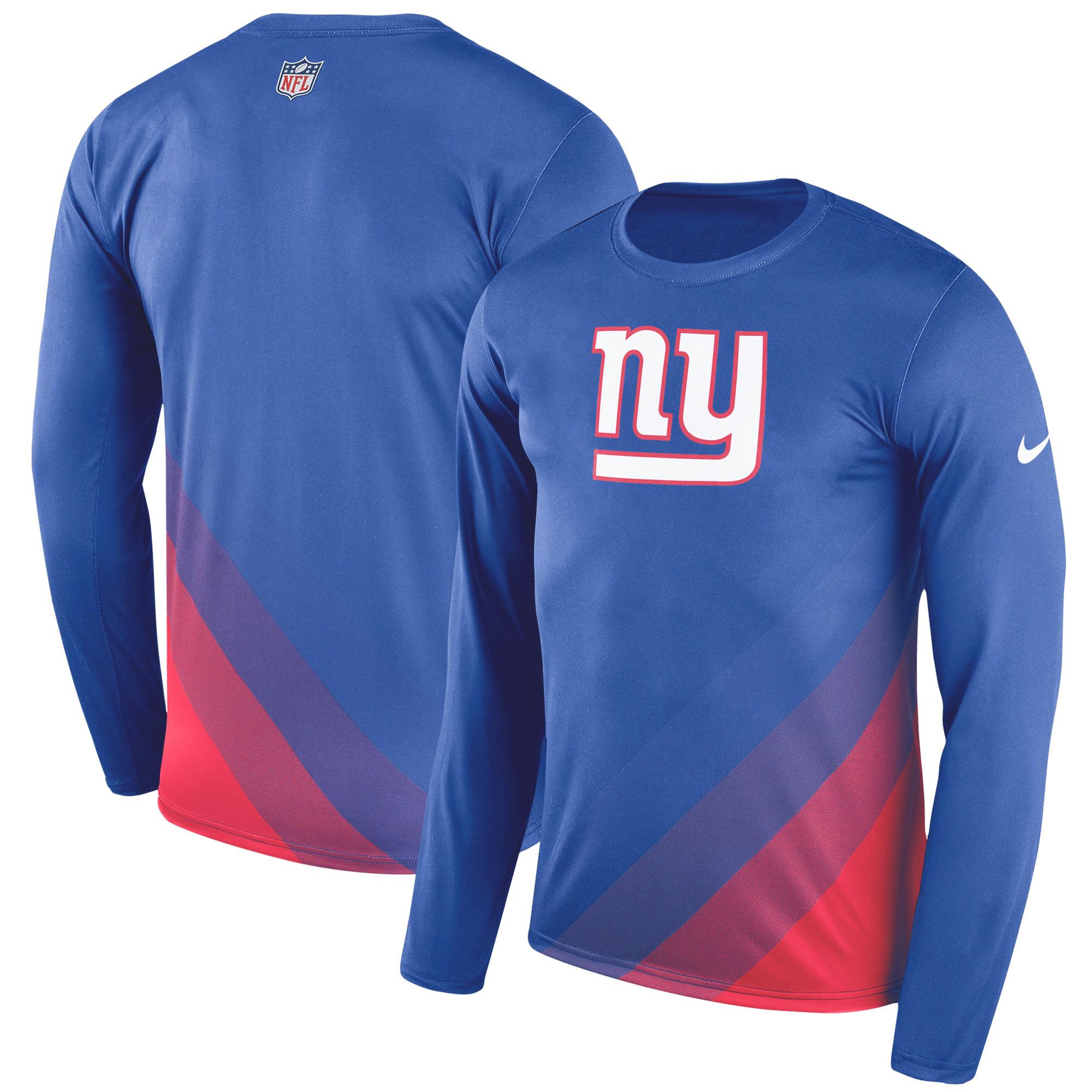 New York Giants Nike Sideline Legend Prism Performance Long Sleeve T-Shirt - Royal
