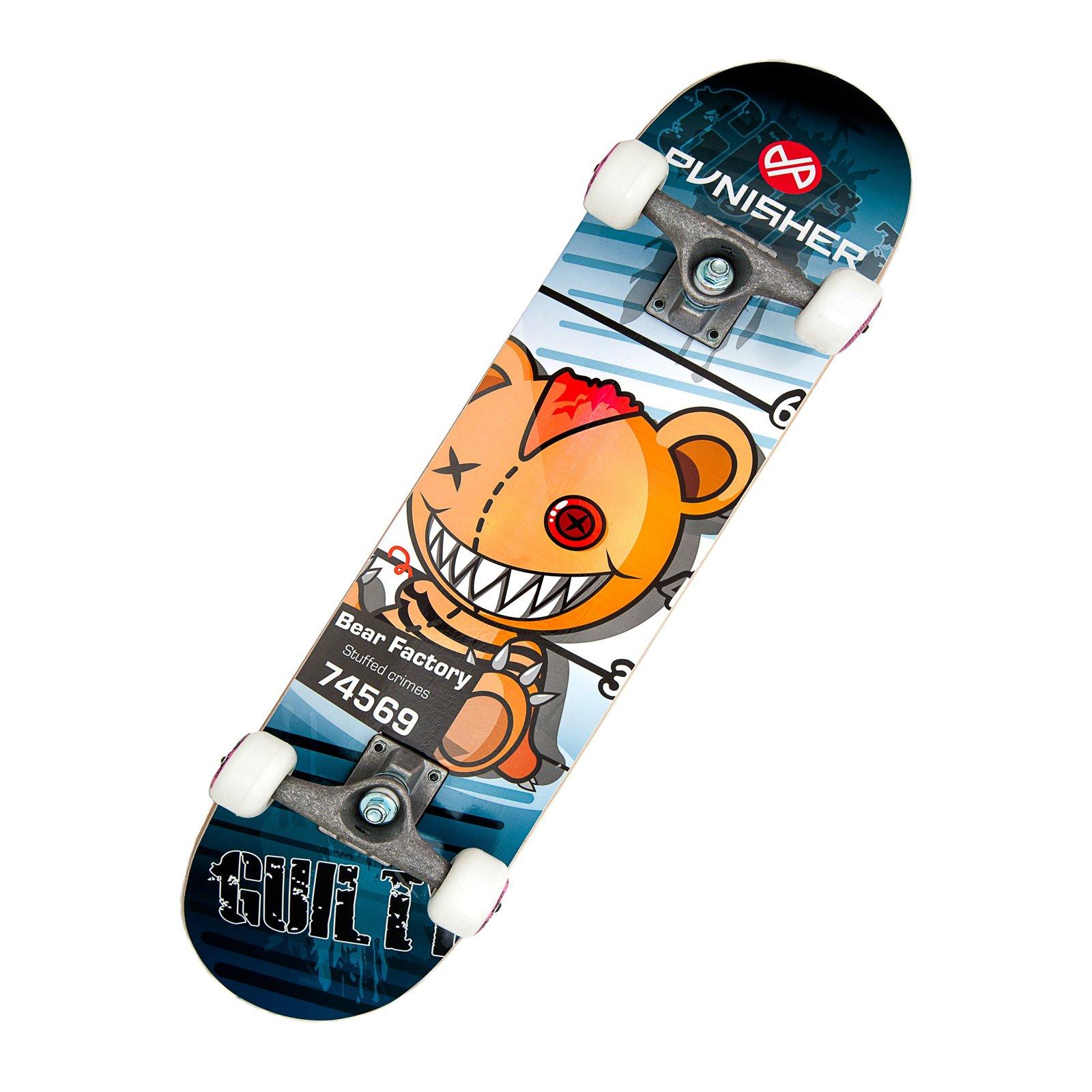 """Punisher Skateboards Guilty 31.5"""" ABEC-7 Complete Skateboard"""