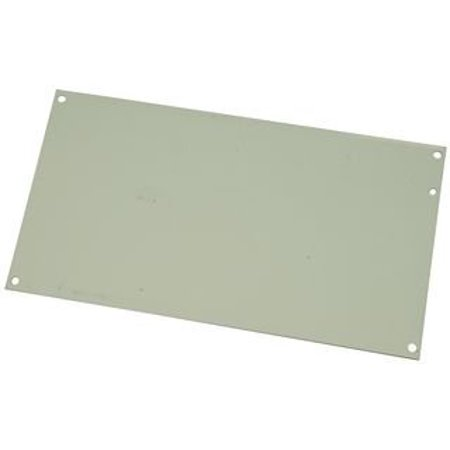 "Hoffman A14P8 Conductive Panels for JIC Enclosure, Steel/Aluminum, J Box/12.75"" x 6.88"", Fits 14"" x 8"", White"