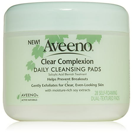 2 Pk Aveeno Active Naturals Clear Complexion Daily Cleansing Pads 28 Count Each