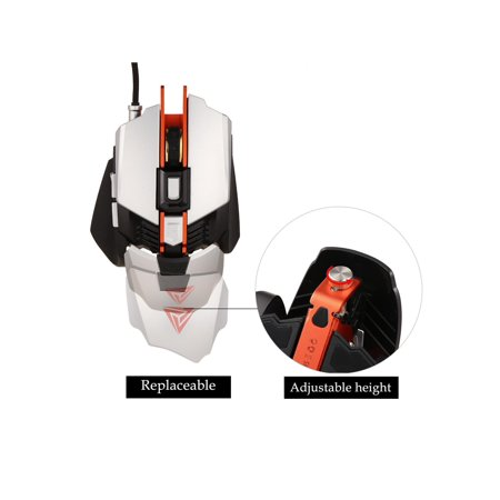 Professional RGB Mechanical Mouse 4000DPI 7 Button Wired Gaming ...