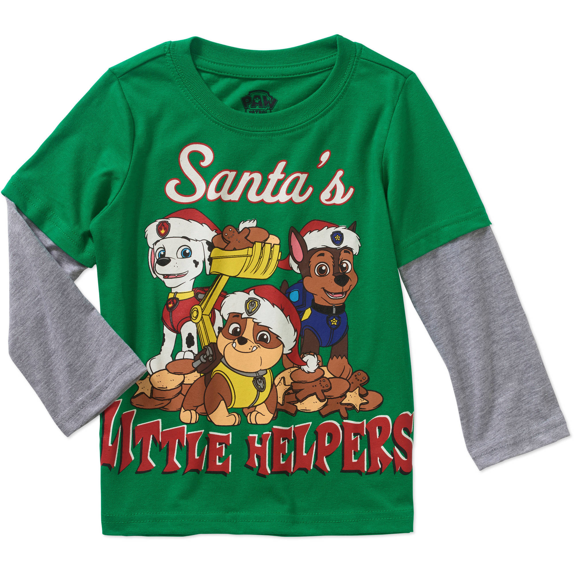Holiday Assorted Characters Toddler Boy Long Sleeve Hangdown Tee