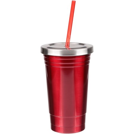 Double Wall Rod (Mainstays™ 16 oz Double Wall Red Pepper Stainless Steel Tumbler )