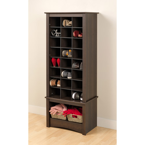 Prepac Tall Shoe Cubbie Entryway Cabinet