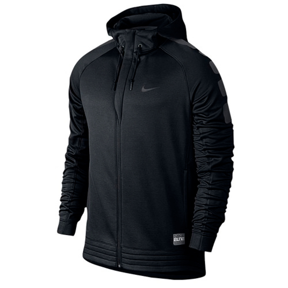 NEW Men's Nike Elite Stripe Hoodie Basketball Jacket Blac...