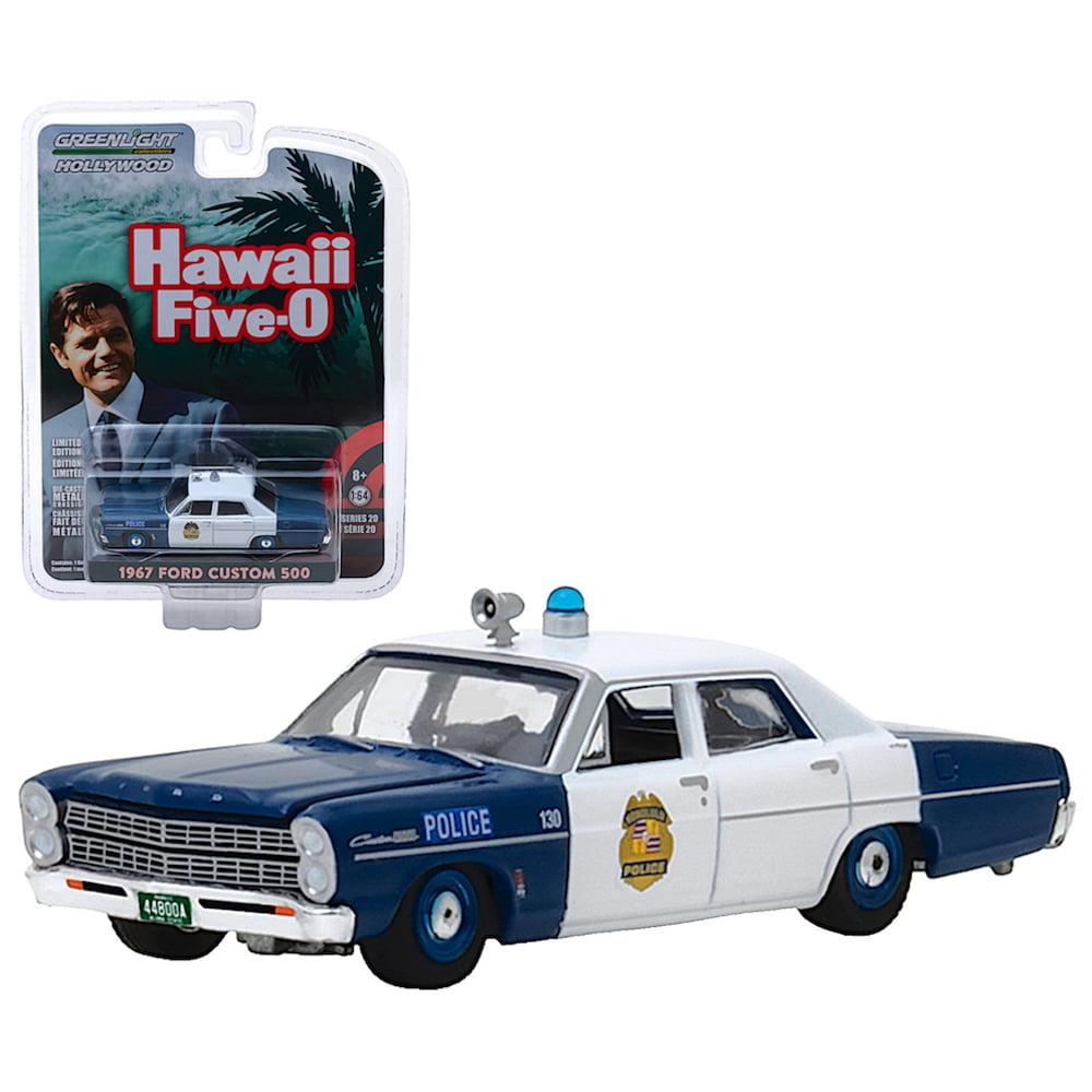 Hawaii Five-O Greenlight Hollywood 1967 Ford Custom 500 1:64 Scale