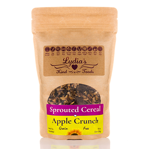 Apple Crunch Cereal (Sprouted & Grain-free) - 12 oz (340 Grams) by Lydia's Kind