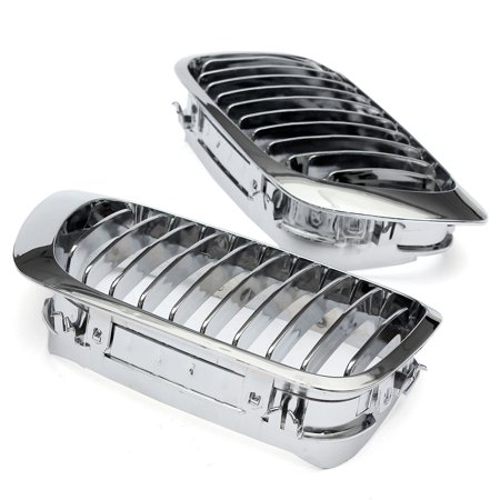 Pair Chrome Front Kidney Grille Grilles LH&RH For  E46 325Ci 330Ci 3 Series M3 2Dr 1999-2006 - image 5 of 7