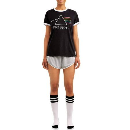 Loungewear Cover (Pink Floyd Women's and Women's plus 3pc Vintage Short Set Pajama )