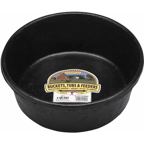 Miller Manufacturing 4qt Rubber Feed Pans